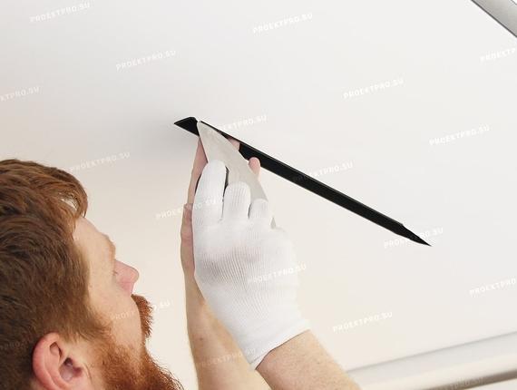 Монтаж ниши slott в натяжной потолок