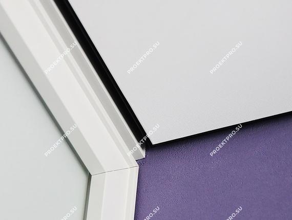 Пимыкание профиля euroslott для тканевого потолка с теневым швом